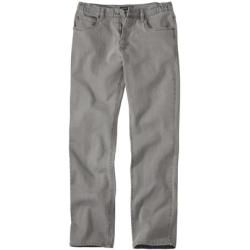 Gray stretch jeans with a partially elastic waistband Atlas For MenAtlas For Men
