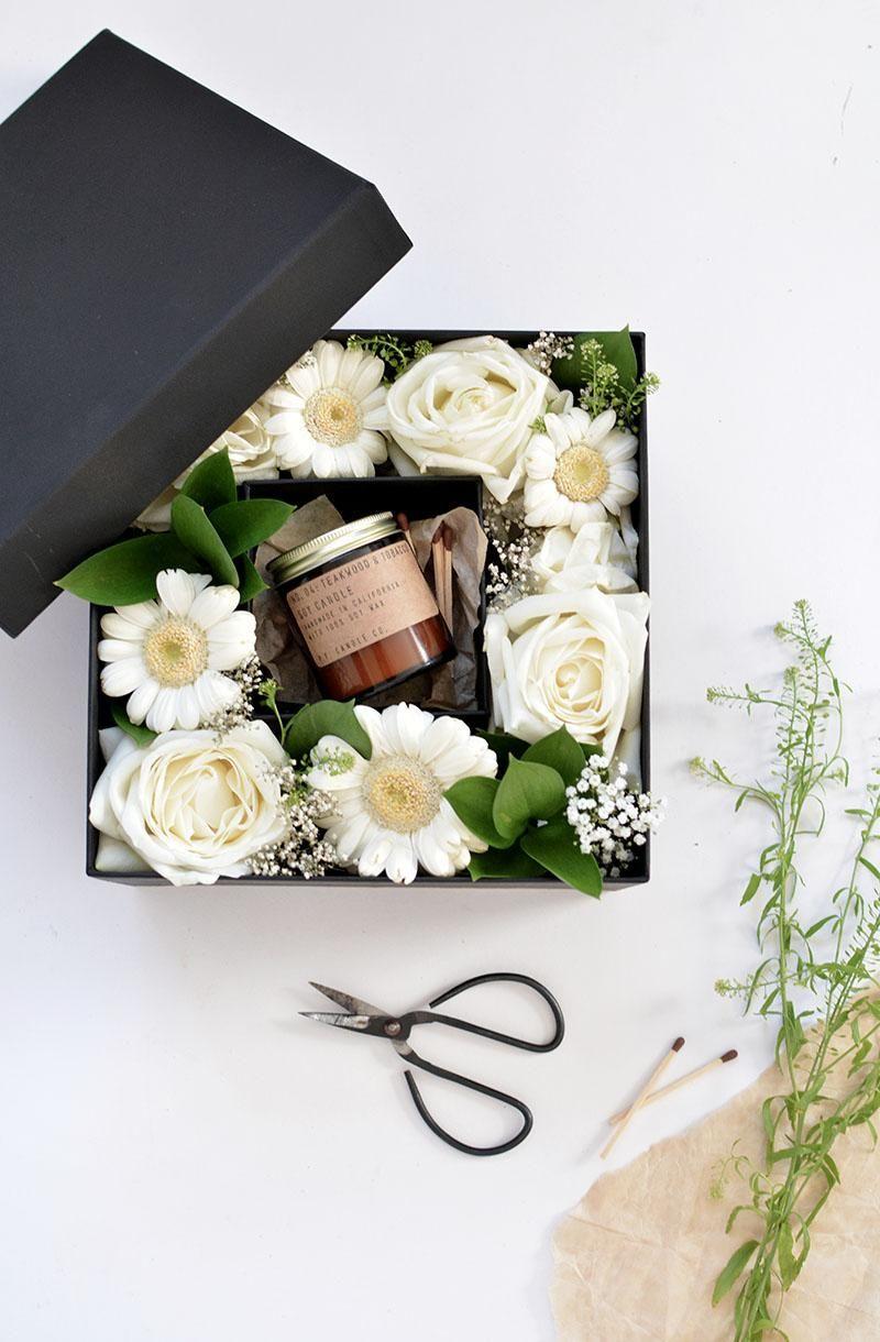 Diy fresh flower gift box flower box gift flower gift
