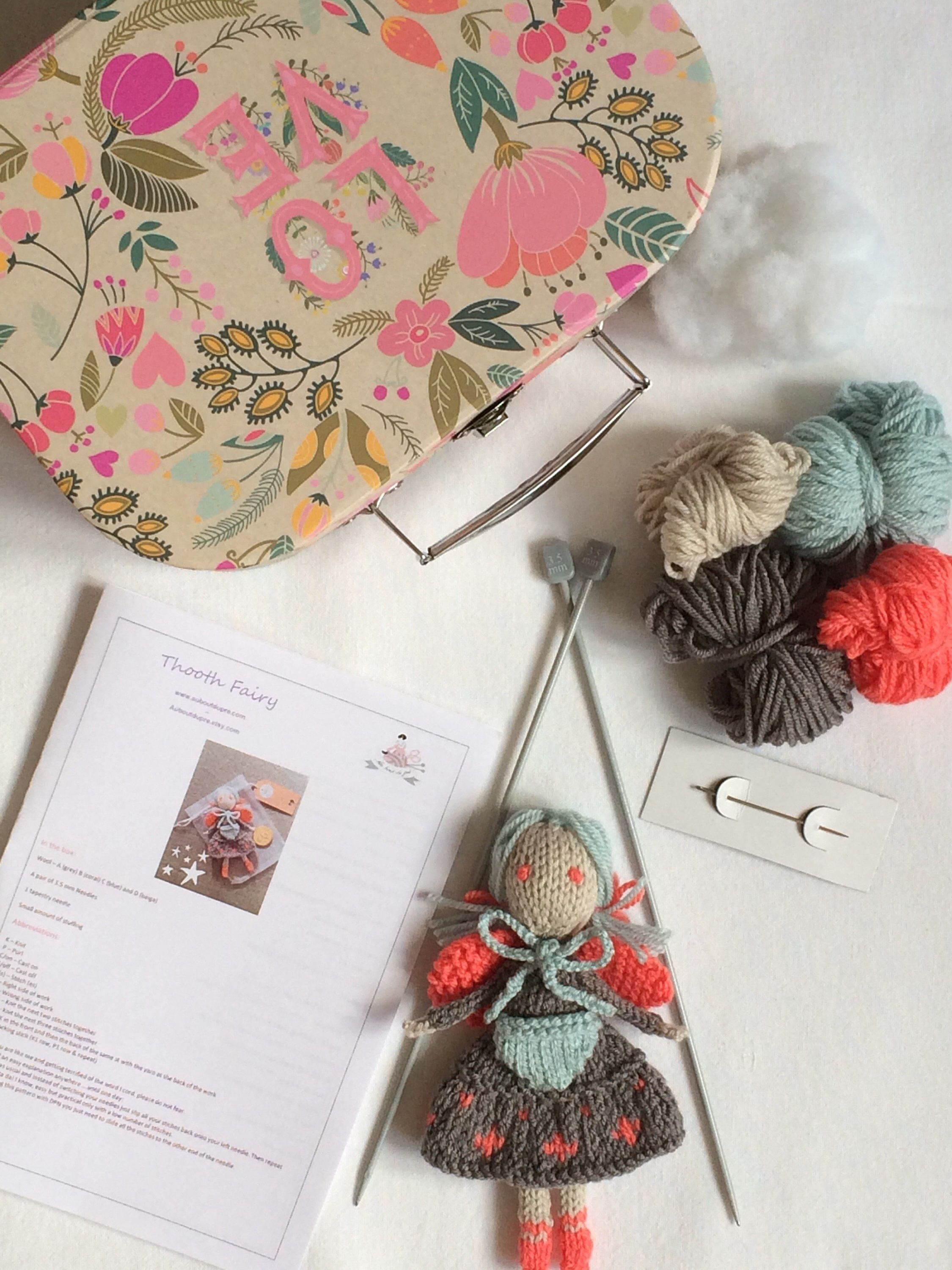 Beautiful knitting kit to make a tooth fairy httpsetsy beautiful knitting kit to make a tooth fairy httpsetsy solutioingenieria Choice Image