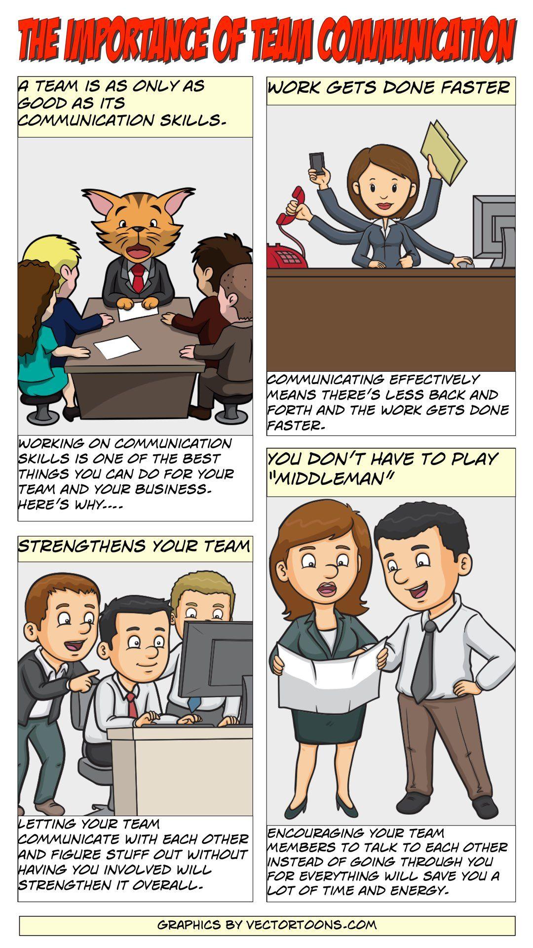 The Importance Of Team Communication Comic Cartoon Contentmarketing Business Communication Skills Effective Communication Comics