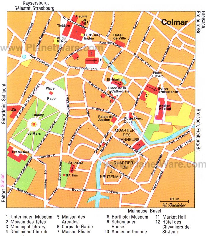 Colmar France Map Tourist Attractions Colmar Tourist