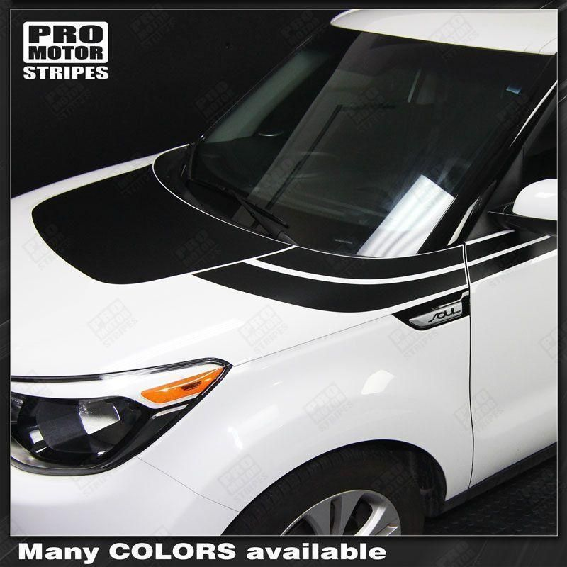 Kia SOUL 20082018 Hood and Side Accent Sport Stripes