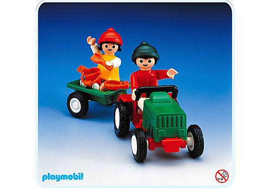 2 kindertraktoranhänger  3594a  playmobil