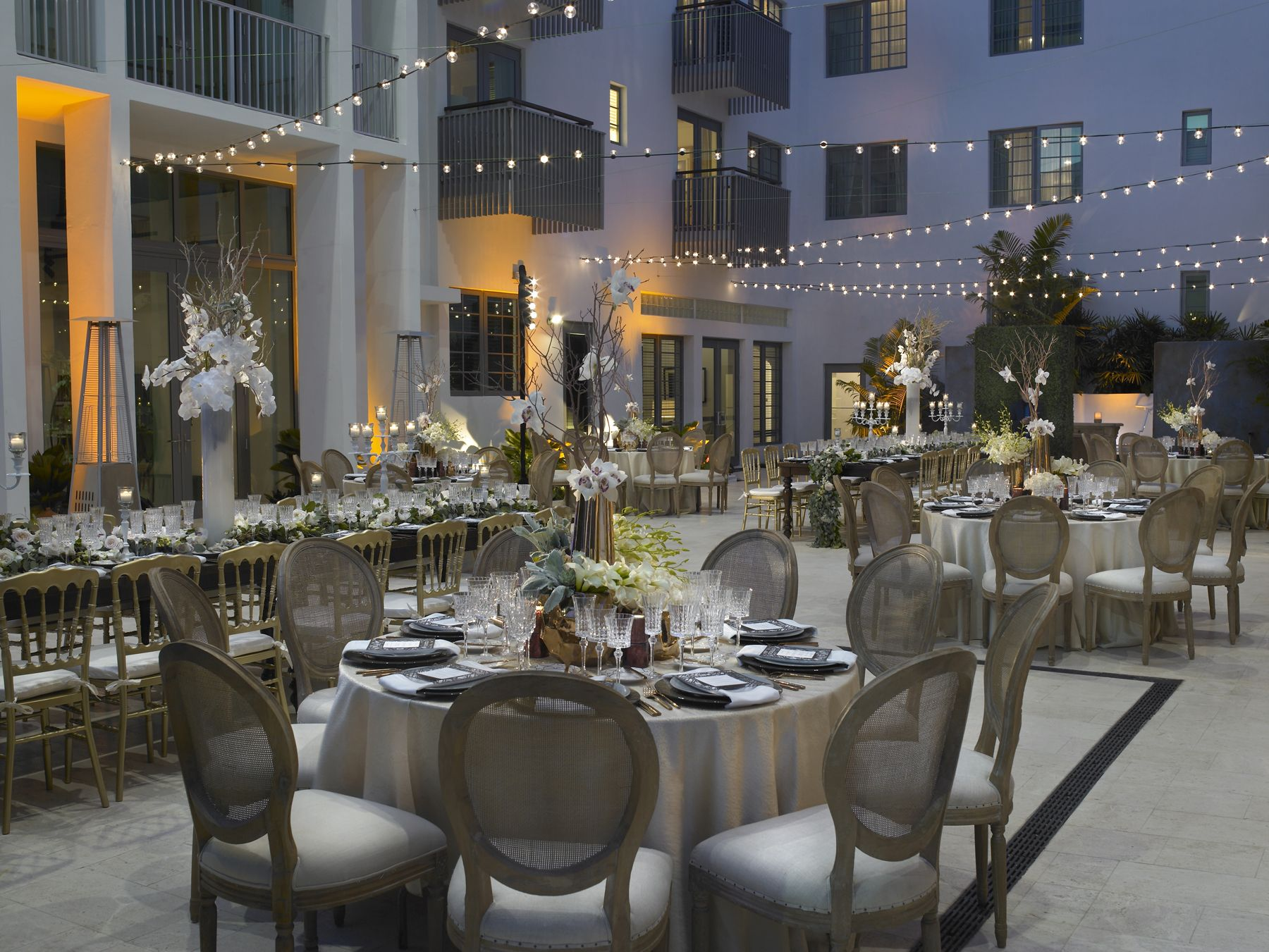 Wedding Reception In The Atrium Of The Betsy Hotel In South Beach