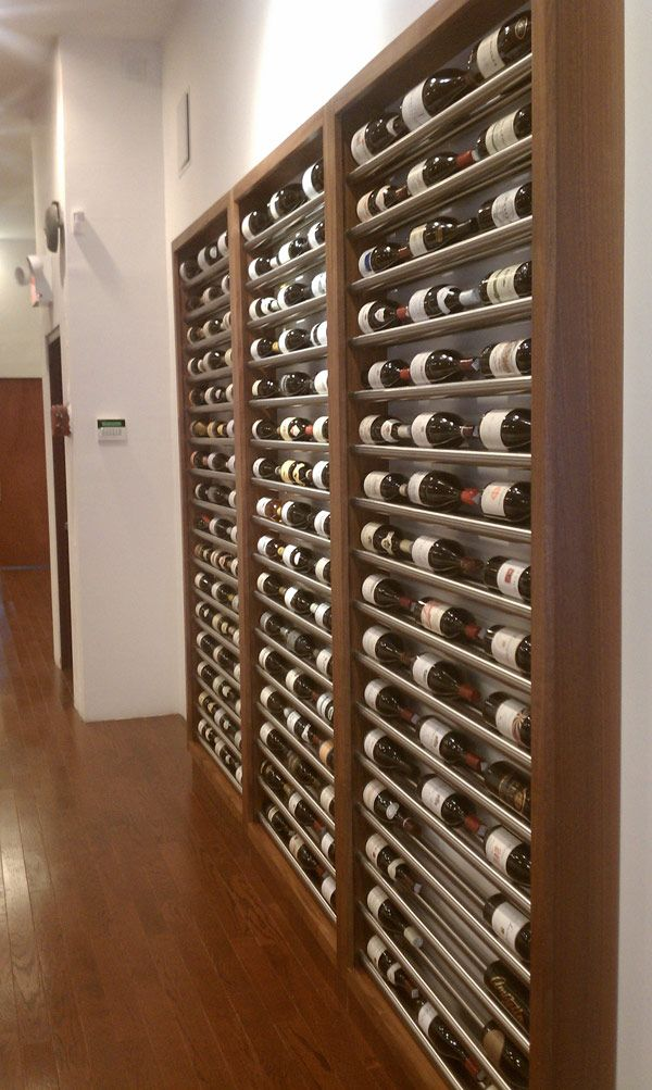 Contemporary metal wine racks building wine cellars with for Building wine cellar