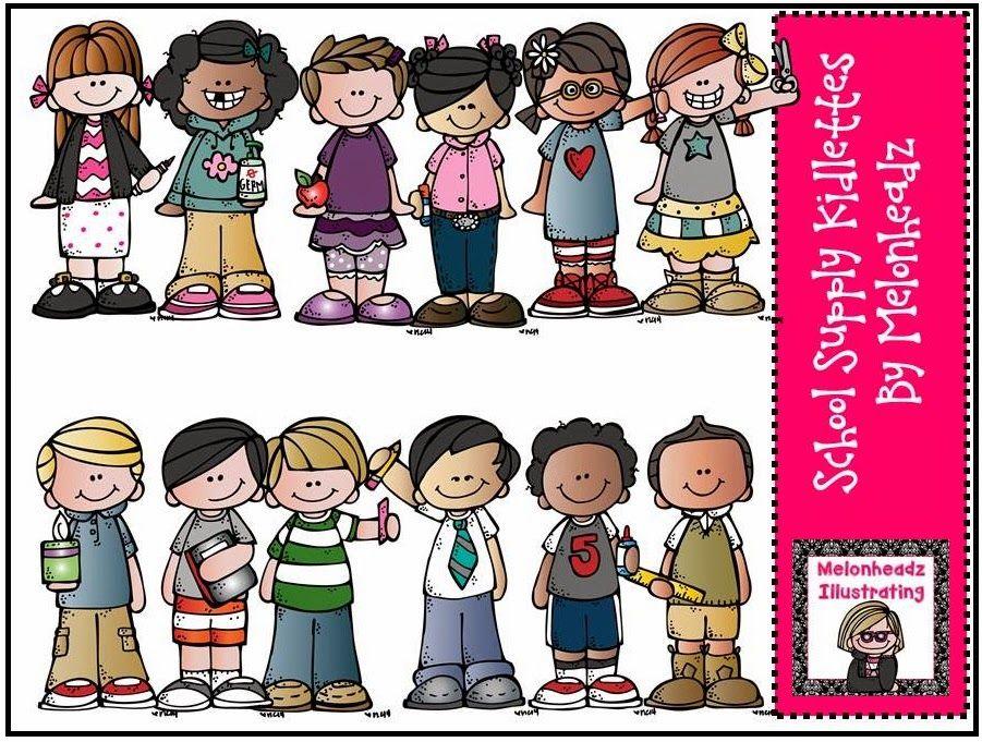 Melonheadz Illustrating School Supply kidlettes, Hide and seek ...