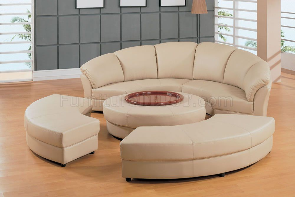 Sectional Sofa, Half Moon Couch Furniture