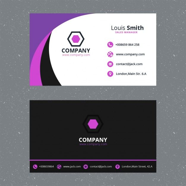 modelo do cartão corporativo roxo | Business cards, Card templates ...