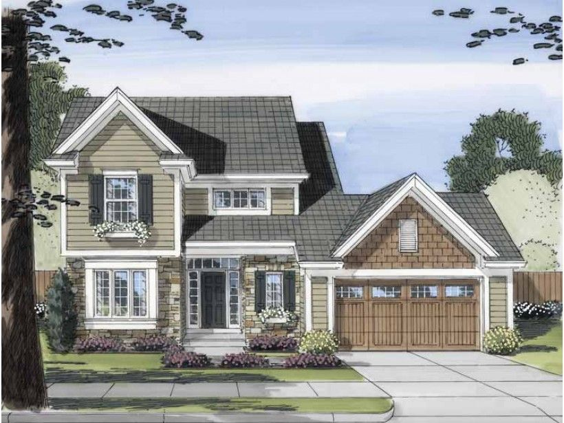 Home Plan HOMEPW24874 is a gorgeous 1802 sq ft, 2 story, 3 bedroom, 2 bathroom plan influenced by + Cottage  style architecture.