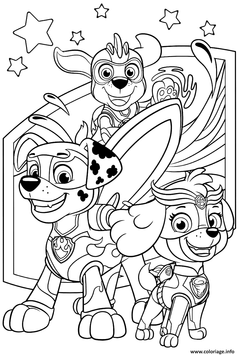 Coloriage Print Pat Patrouille Mighty Pups A Imprimer Paw Patrol Coloring Pages Paw Patrol Coloring Paw Patrol Printables Free