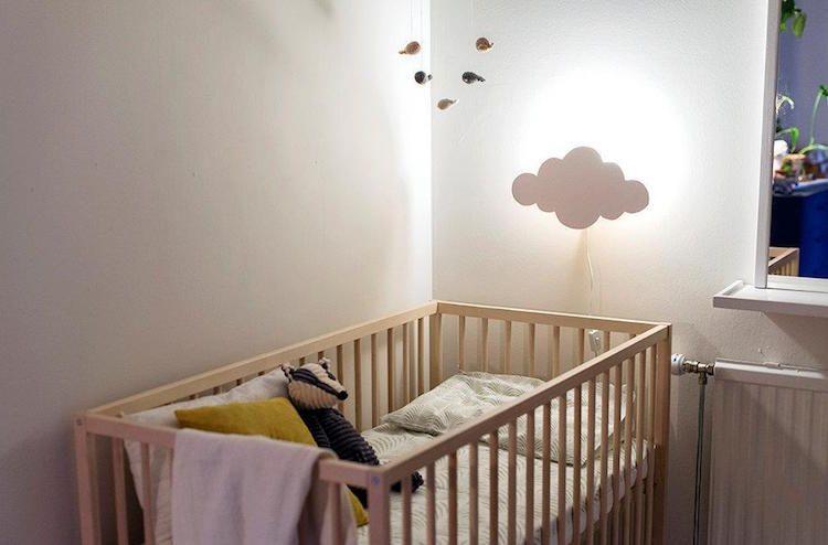 Kinderzimmer Babyzimmer ~ Wolken kinderzimmer babyzimmer nachtlampe diy idee baby