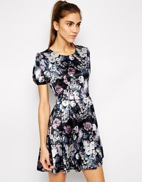 Style London Skater Dress in Winter Floral