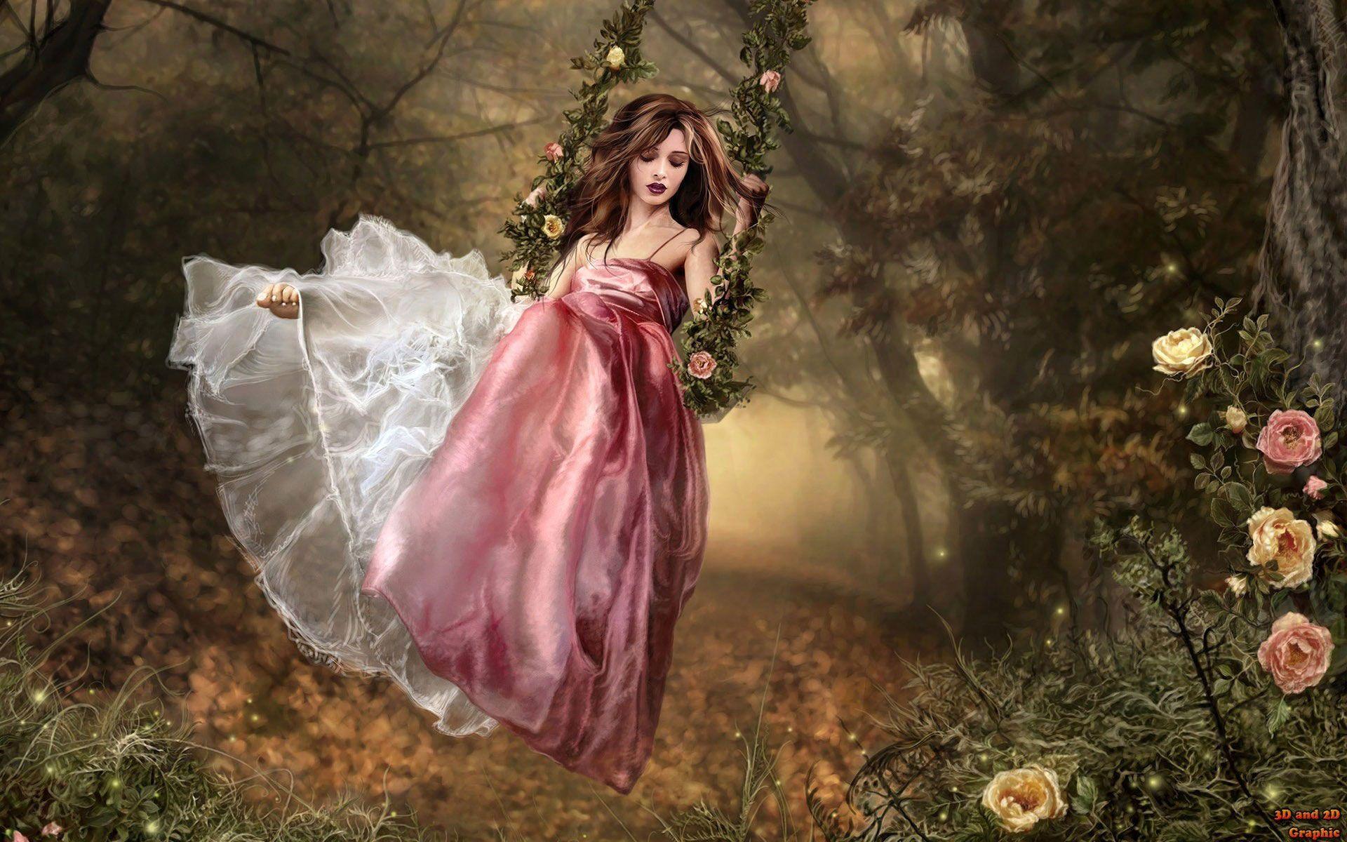 3d Fantasy Girl Wallpaper Cute Animated Girls Wallpapers Fairy Wallpaper Princess Wallpaper Fantasy Girl