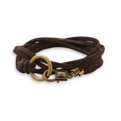 "26"" Double Strand Suede Wrap Fashion Bracelet"