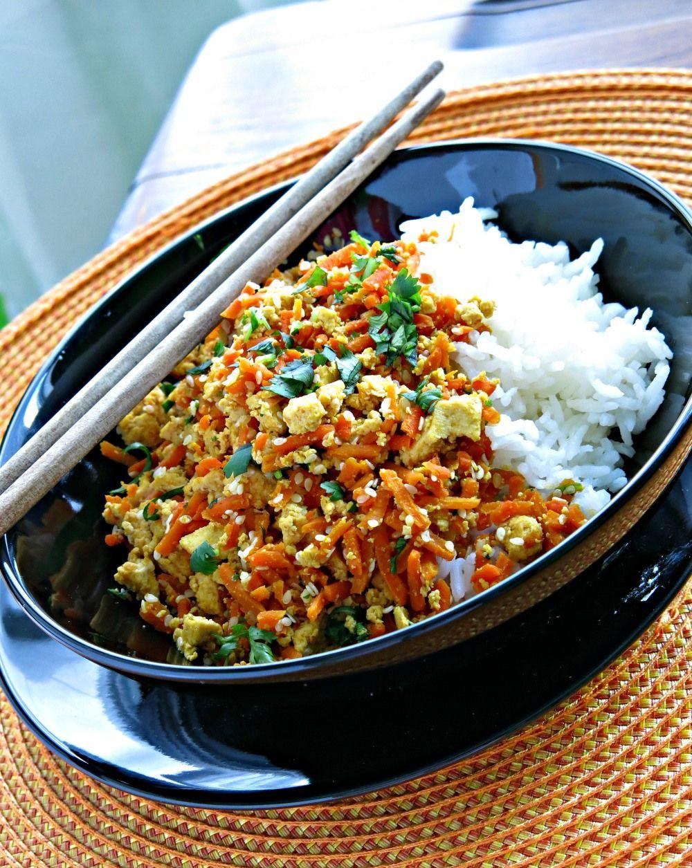 Carrot and Tofu Stir-Fry