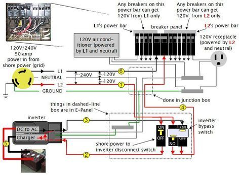 rv dc volt circuit breaker wiring diagram |     power system on an rv  (recreational vehicle) or motorhome - page 3