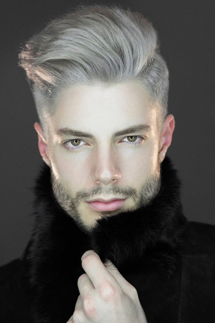 Coupe homme teinture gris