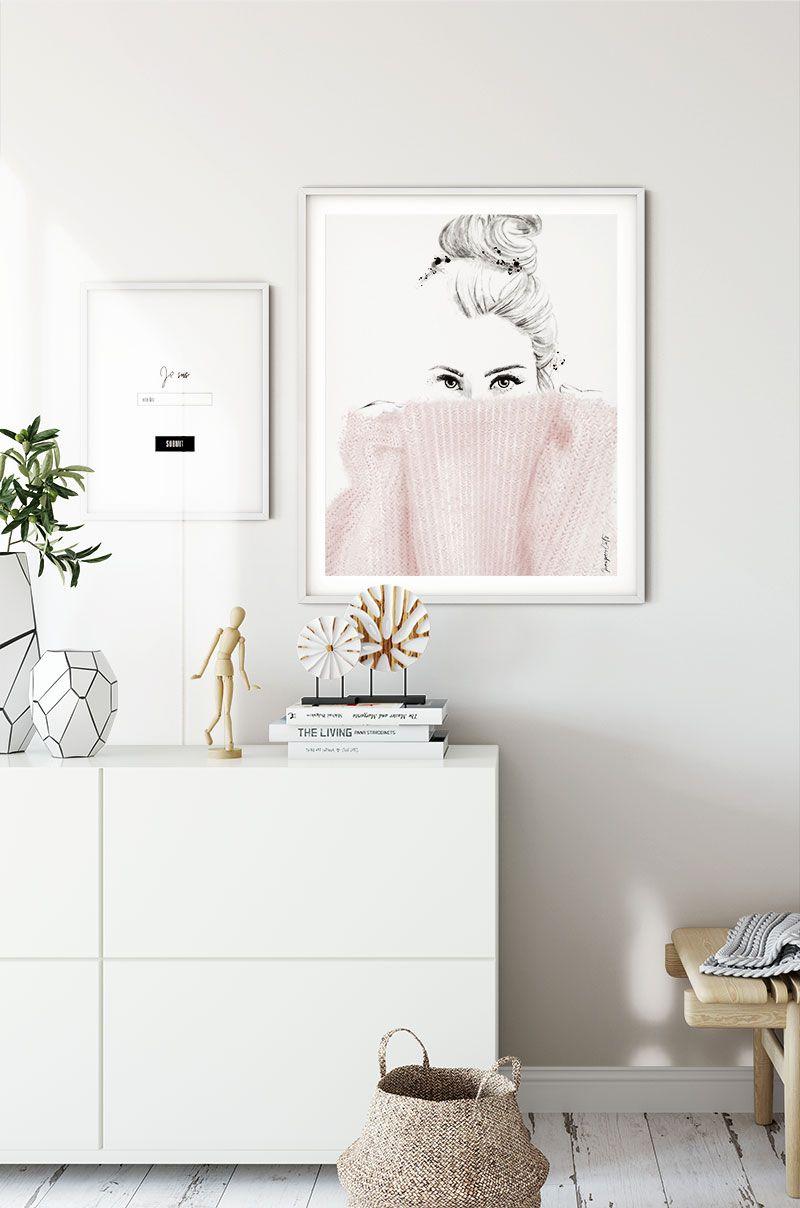Juniper Six |  A minimalist design by JuniperOats Studio. Discover romantic minimalism. Minimalist Artprint. Digital Dowload. Minimalist Interior Design. Minimalist Style. Blush Pink. #artprint, #minimalist, #minimalinterior, #homedeco, #illustration