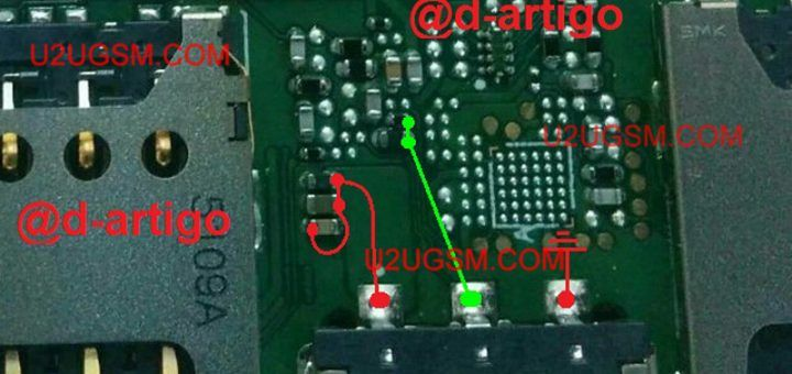 Nokia 1280 Battery Terminal Points Damage