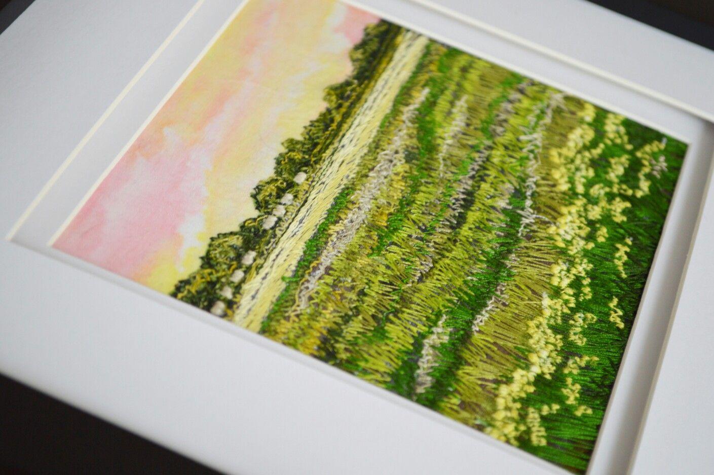 Monika Kinner-Whalen Prairie threadpaintings www.mysweetprairie.ca