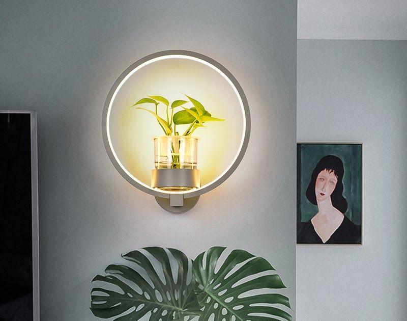 Kreative Pflanzenwandleuchte Moderne Minimalistische Nordische Wandleuchte Fur Schmiedeeiserne Wande Schlafzimmer Nac In 2020 Wall Lights House Interior Candle Sconces