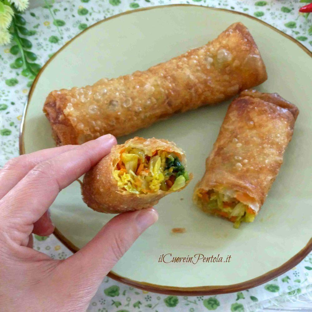 Involtini Di Pasta Fillo Con Verdure Ricetta Il Cuore In Pentola Ricetta Ricette Pasta Fillo Cibi Esotici