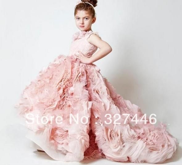 Click to Buy << New Chic lovely Cheap Ball Gown little girls pageant ...
