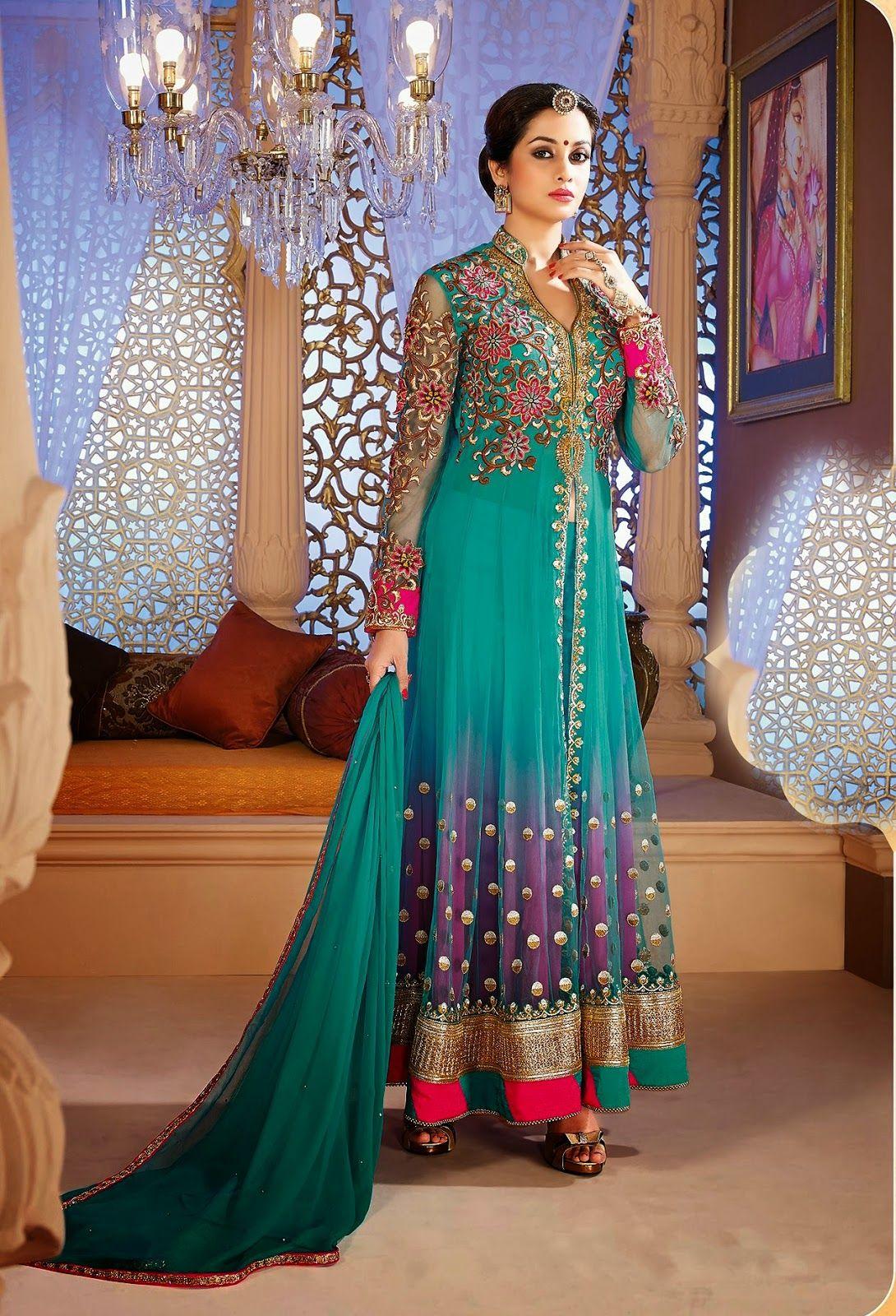 Fashion: Ready-Made Long Fancy Anarkali Churidar Salwar Suits 2014 ...