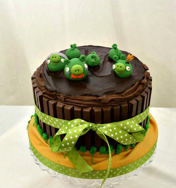 DIY Birthday Cakes Using Kit Kats Chocolate Bars Crafty Morning