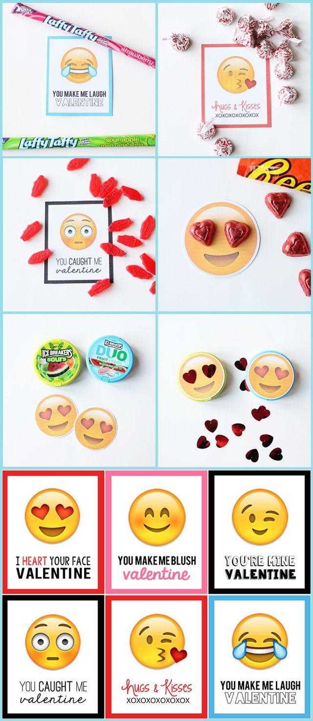 Emoji valentine treats vday pinterest valentines valentine