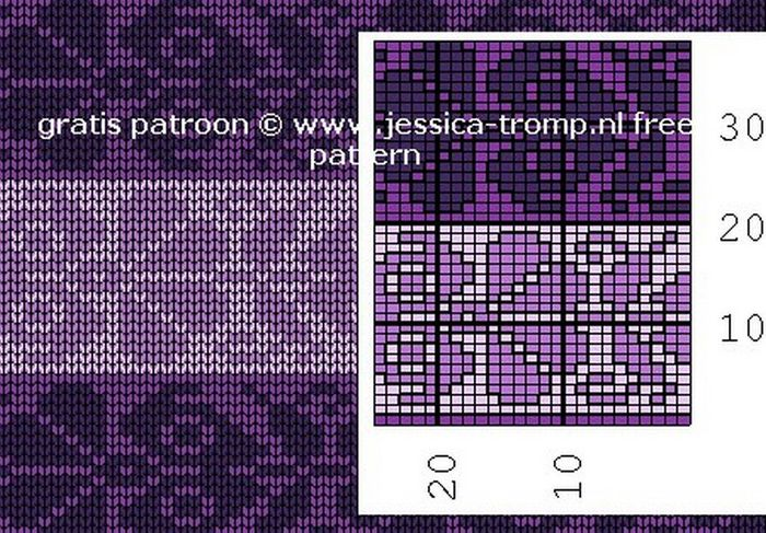 TBk89EfAPCU (700x487, 476Kb) | Jacquard con dos agujas ll | Pinterest