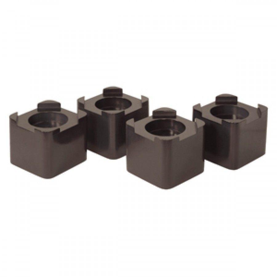Espresso Set of 4 Richards Homewares Wood Bed Lifters