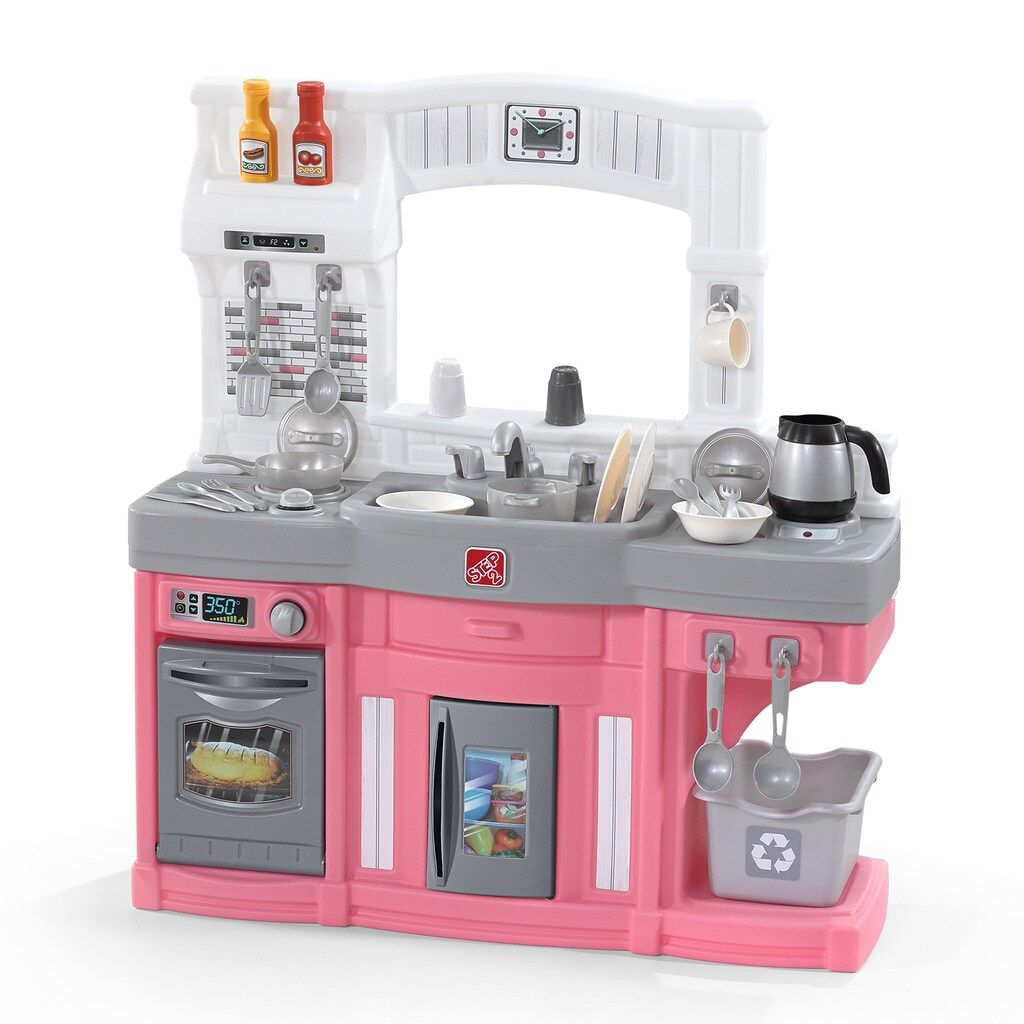 Step2 Modern Cook Play Kitchen Pink Set Play Kitchen Play