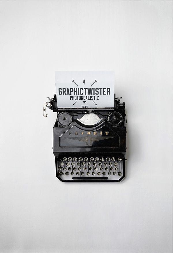 Free Mockup old typewriter