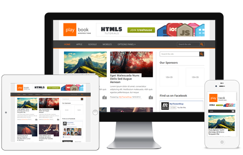PalyBook A Traditional Dual Post Free Responsive WordPress Theme ...