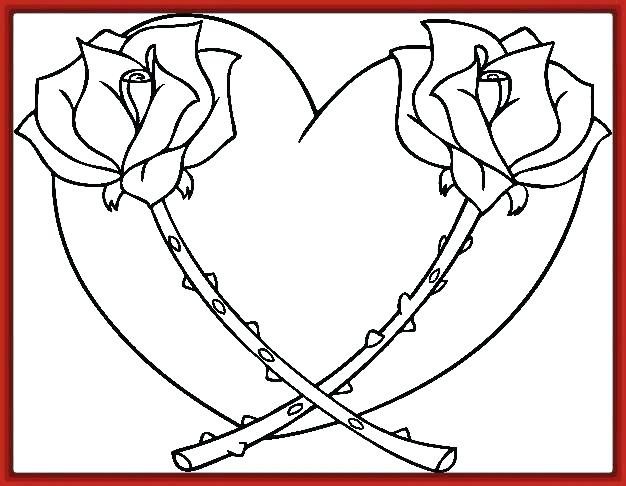 Flor Para Colorear Con Sus Partes Pdf Corazon Para Colorear Dibujo Para Colorear Del Corazon Y S Rose Coloring Pages Heart Coloring Pages Flower Coloring Pages