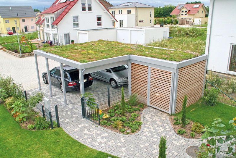 Für Eine Dachbegrünung Ist Ein Carport Mit Flachdach Besonders Gut  Geeignet. Soll Das Dach Bepflanzt Werden, Sollte Schon Bei Der Planung  Darauf Geachtet ...