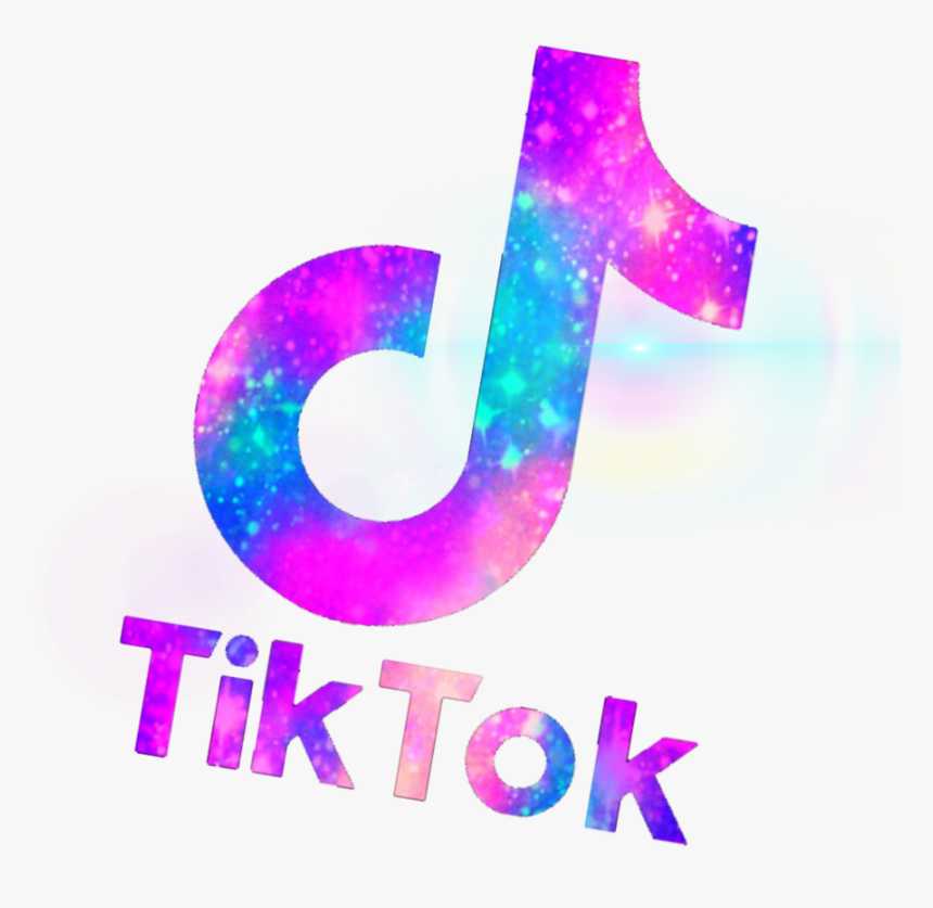 tik Tok Tik Tok Logo Pink And Purple, HD Png Download