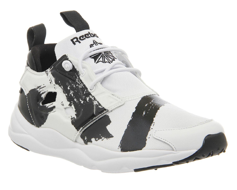63ea7c9ee01ad6 Reebok Fury Lite White Mono Black - Hers trainers
