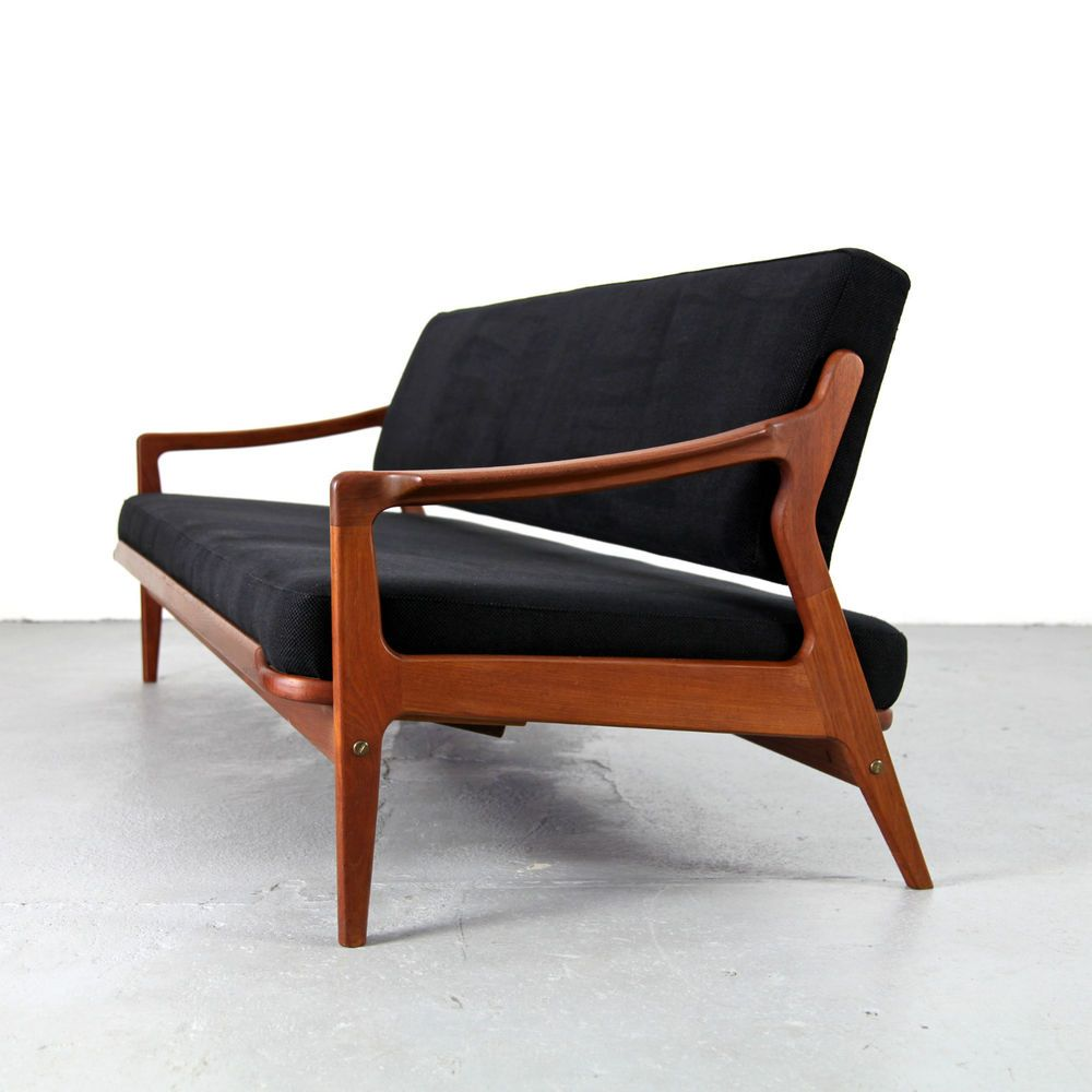 Mid Century Daybed Arne Wahl Iversen Denmark 60s Danish Modern Teak Sofa 60er