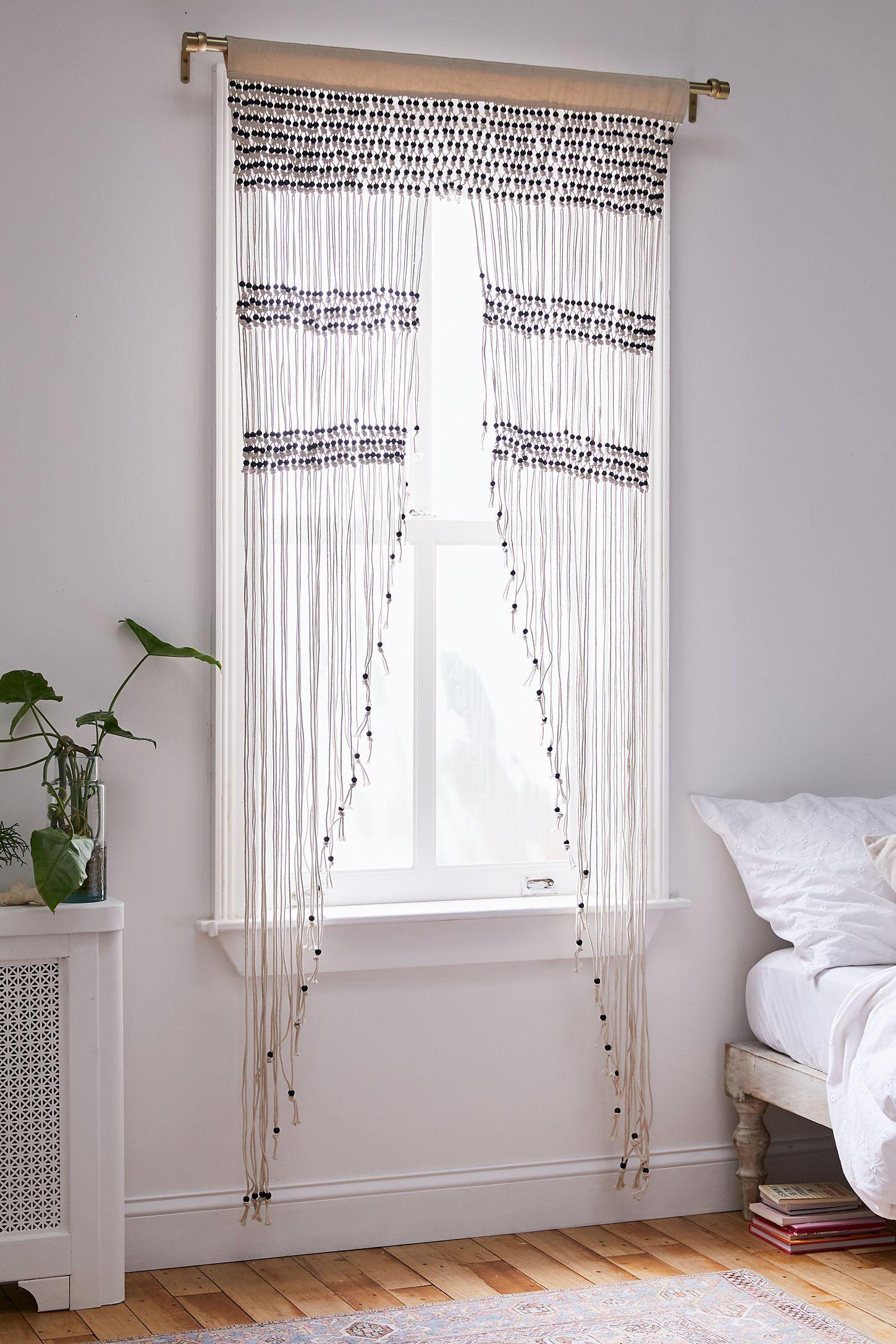 Kelsi Macrame Beaded Portal Urban Outfitters Curtains Bamboo