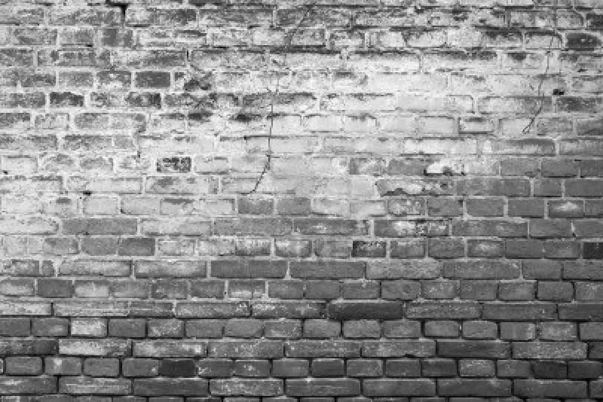 Black And White Brick Wall Background