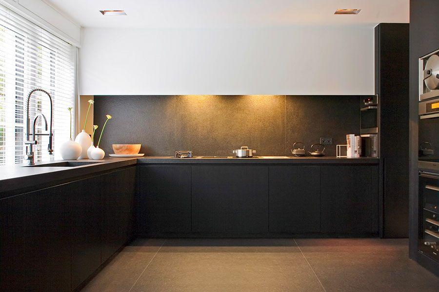 keuken zwart - Google zoeken - Ideeën voor het huis | Pinterest ...