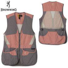 Browning Women's Summit Shooting Vest - Sage/Pink