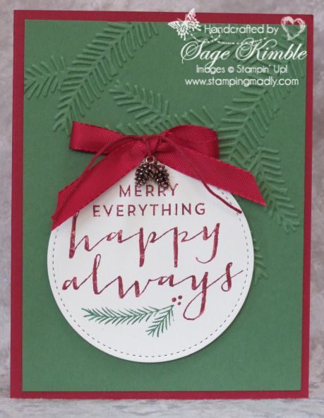 Super Easy Christmas Card From Stamping Madly Made With Suite