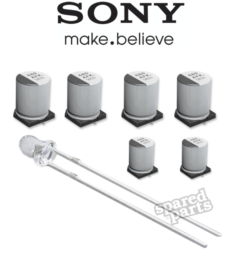 Sony Icf Sw1 Capacitor Repair Kit Kits Pinterest 17pw15 8 Circuit Diagram The Is A Popular Receiver That Now Suffers From Ageing Surface Mount Electrolytic Capacitors Consequently This Results In Loss Of Audio
