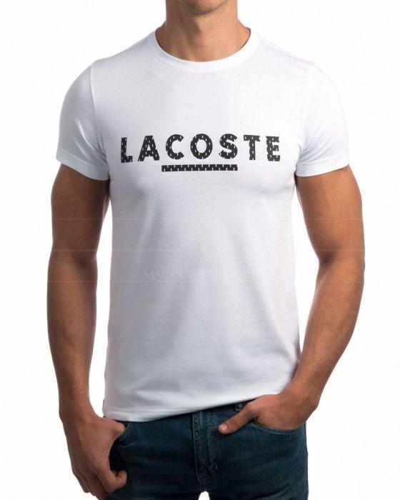 202230ca117 Camiseta Lacoste Azul Marino - Rubber logo en 2019
