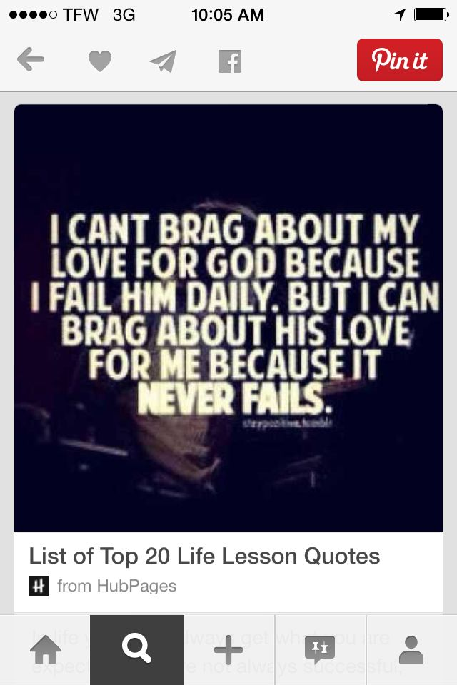 This is so true!!! Love God , because he will always love you!!! ⛪️