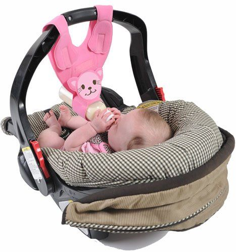 The Bebe Bottle Sling is designed to hang from any infant car seat