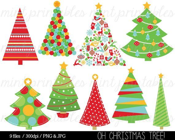 Christmas Clipart Christmas Tree Clip Art Christmas Trees Etsy Christmas Tree Clipart Christmas Clipart Christmas Tree Painting